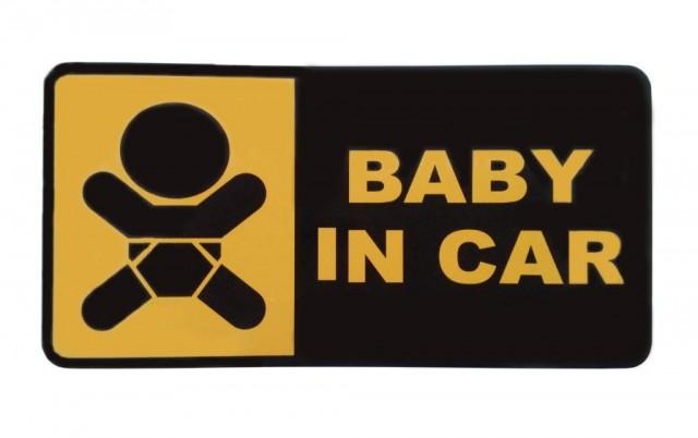Lipdukas Baby in car