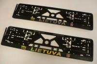 Lietuva reljefas su iškiliais lipdukais